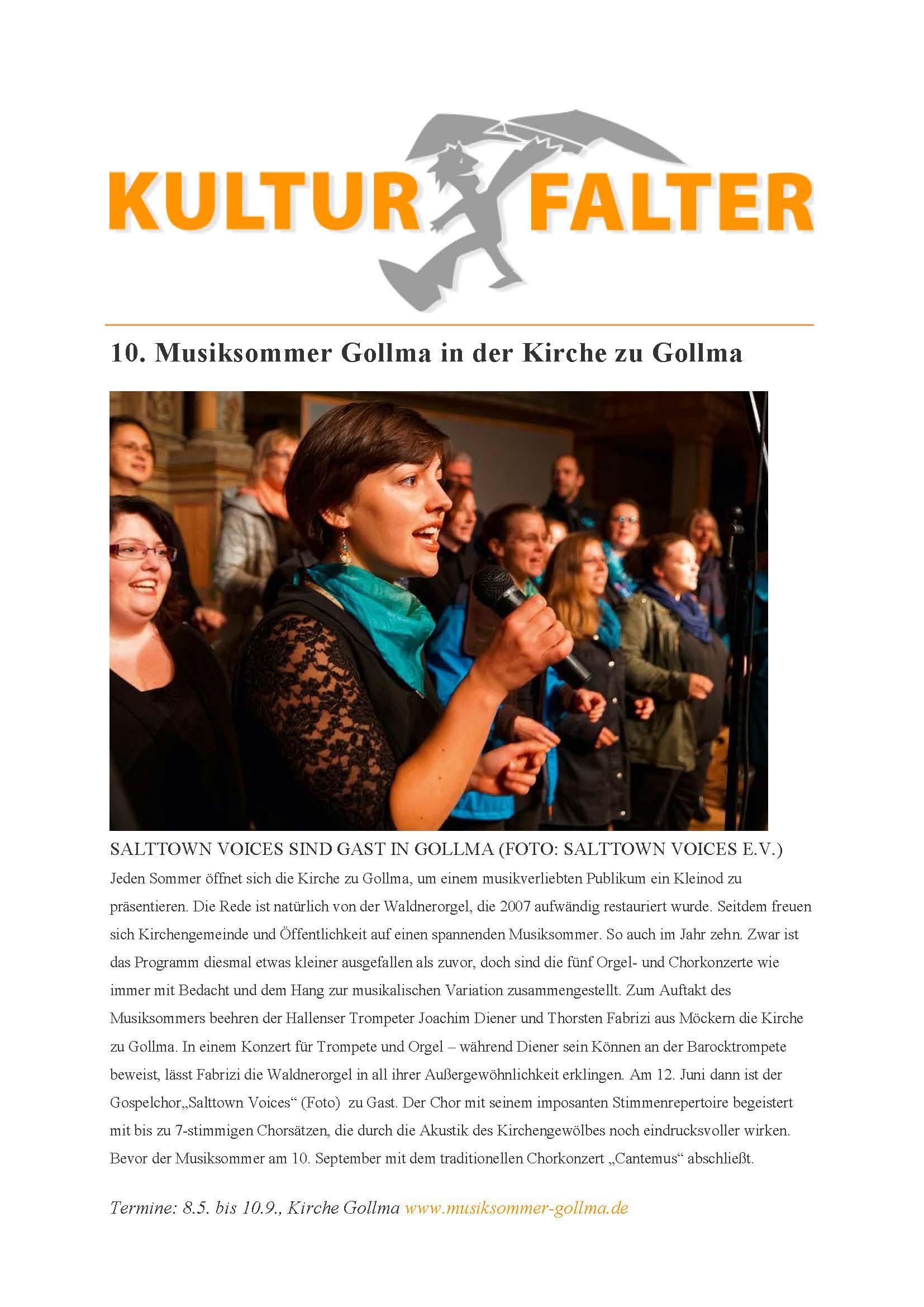 Konzert Musiksommer Gollma